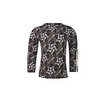 Áo T-shirt Bé Gái Tay Dài_Yvette LIBBY N'guyen Paris_YVETTE COOL GT1 _Màu Xám (Volcanic Glass)_Cotton Mélange hữu cơ (Organic)