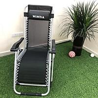 Ghế xếp thư giãn - dựa ngả lưng NiNDA G830 có khoá sắt, tải trọng 300kg, thích hợp với người cao tuổi, gấp gọn khung thép không gỉ, đế chống trượt - Hàng cao cấp chính hãng