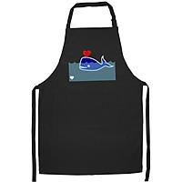 Tạp Dề Làm Bếp In Hình Cá voi yêu - DV003 – Màu Đen