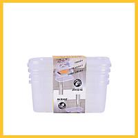 Bộ 3 Hộp Nhựa Trong Suốt No Brand 17,6 x 11,7 x 7,05cm