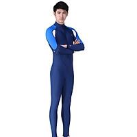 Quần áo lặn biển dài tay 1mm NAM - BLUE, cản tia UV 99% (UPF50+) - POKI