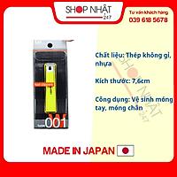 Bấm móng tay thân nhựa KAI cỡ trung màu xanh lá nội địa Nhật Bản