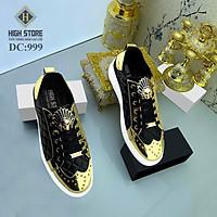 Giày Da Nam Cao Cấp 2021 - Giày Nam Buộc Dây Thấp Cổ DC99