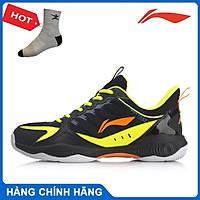 Giày cầu lông nam Lining AYTQ019-2 màu trắng phối đen hàng chính hãng - Tặng kèm tất Bendu chính hãng