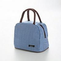 Túi đựng hộp cơm, túi giữ nhiệt thức ăn sọc ngang + tặng kèm 01 sổ tay