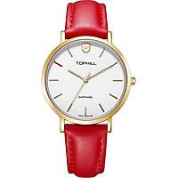 Đồng hồ nữ dây da chính hãng Thụy Sĩ TOPHILL TS007L.PR2252