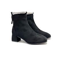 Boots nữ, 3 cm, mũi vuông, quai đá cổ Boots05