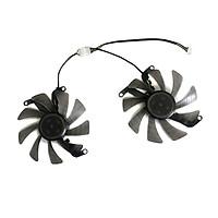 2pcs/Set 4Pin Graphics Fan VGA Cooler For KFA2 GTX 1660 GTX1660 Ti RTX 2060 Super Video As Replacement