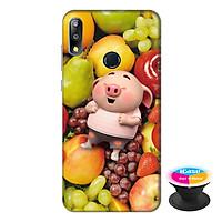 Ốp lưng điện thoại Asus Zenfone Max Pro M2 hình Heo Con và Trái Cây Mẫu 1 tặng kèm giá đỡ điện thoại iCase xinh xắn - Hàng chính hãng