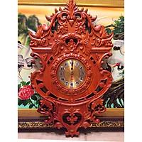 Đồng hồ trang trí gỗ hương đỏ - (45x76cm)