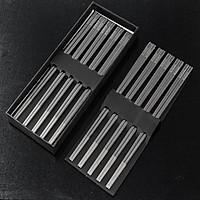 Hộp 10 đôi đũa inox 304 cao cấp - Đặc ruột - Chống trơn - Đẹp sang trọng bền mãi với thời gian