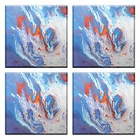 Set Đế Lót Ly Gốm Vuông Mika A-001-005-S-V (4 Cái)
