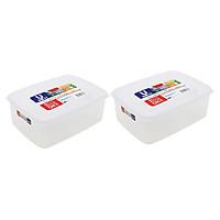Combo 02 Hộp nhựa Nakaya 3L bảo quản thức ăn trong tủ lạnh, có nắp mềm - Hàng nội địa Nhật Bản