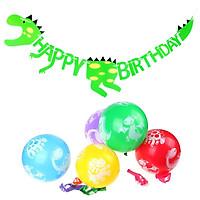 Combo dây treo sinh nhật và bong bóng khủng long