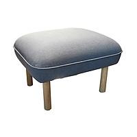 Ghế đôn JYSK NID-002 vải polyester ghi đậm chân gỗ sồi