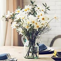 1 cành 5 bông hoa cúc họa mi giả vải lụa giống thật decor nha cửa