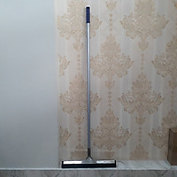 CÂY ĐẨY NƯỚC GẠT SÀN ĐẦU INOX CAO CẤP 45cm, chuyên dụng gạt nước sàn, cho khách sạn, nhà hàng và gia đinh, đầu kẹp inox 304 sáng bóng dài 45cm, lưỡi cao su dày 2cm,