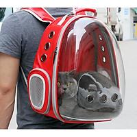Balo vận chuyển chó mèo Ba lô phi hành gia trong suốt - chó mèo dưới 7kg MÀU NGẪU NHIÊN