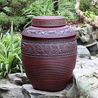 Chum sành ngâm rượu trống đồng Đông Sơn Âu Lạc 30 Lit chính hãng gốm sứ Bát Tràng (bình rượu, bình ngâm rượu, chum ngâm rượu)