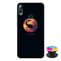 Ốp lưng điện thoại Asus Zenfone Max Pro M2 hình  12 Cung Hoàng Đạo - Cung Bọ Cạp tặng kèm giá đỡ điện thoại iCase xinh xắn - Hàng chính hãng