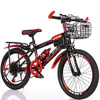 Xe đạp thể thao địa hình bánh 24 inch cho bé 7-11 tuổi Tặng kèm dầu tra xích + chuông la bàn (Giao màu ngẫu nhiên)