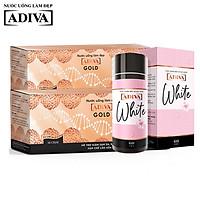 Combo 02 Hộp Gold ADIVA Collagen (14 lọ/hộp) và 1 hộp White ADIVA(60 viên)