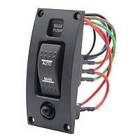 12-24V Bilge Pump Switch Alarm Waterproof Ship Deck Cleaning Control Panel for Boat Bilge Pumps on/off/on