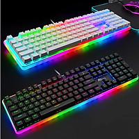 Bàn phím cơ Chơi Game RK918 RGB. Thiết kế đẹp, đèn nền RGB rực rỡ. Có dây, Full size 108 phím. Đủ màu và Switch - Chính Hãng Royal Kludge