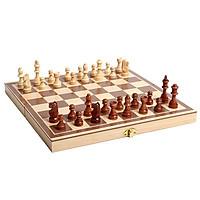 Bộ cờ vua bằng gỗ, hộp đựng kiêm bàn cờ làm bằng gỗ tự nhiên, môn thể thao phát triển trí tuệ giúp phát triển trí thông minh ngay từ nhỏ - Tặng Kèm Móc Khóa