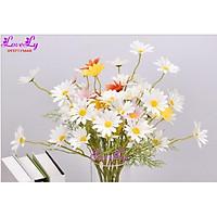 Hoa giả - Hoa cúc họa mi giả như thật decor trang trí nhà( Giống thật 99%)