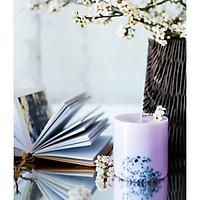 Nến thơm sáp đậu nành cao cấp khảm đá tự nhiên, mùi hương thư giãn của lavender (hoa oải hương)