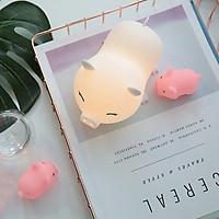 Đèn Ngủ Silicone Trang Trí Nhiều Màu Sắc Hình Heo Dễ Thương - Cute Pig