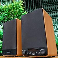 Loa vi tính SunSure M60 - Loa 2.0 vỏ gỗ cực đẹp - Công suất 40W, âm thanh trầm ấm, chân thực - Chỉnh âm thanh ngay trên loa - Đầy đủ kết nối bluetooth, AV, USB, SD card  - Hàng nhập khẩu