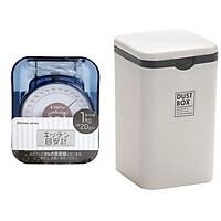 Combo Cân nhà bếp mini mẫu mới + Thùng đựng rác mini phòng ngủ nội địa Nhật Bản