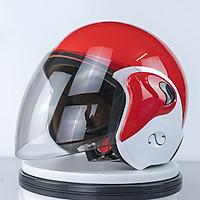 Mũ Bảo Hiểm có kính 3/4 đầu mẫu mới siêu hot  A35K_ Kính trà chống bụi chống chói _ Mũ Đôi cute