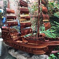 Thuyền buồm gỗ cẩm - - dài 80