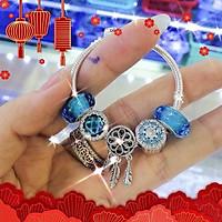 Set vòng tay charm bạc s925 cho bé - Đông Bích silver - hàng khách đặt