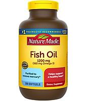 Dầu Cá Nature Made Fish oil 1200mg 0mega-3 200 viên - mẫu 2020