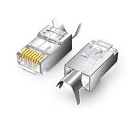 đầu bấm mạng dùng cho dây lớn Cat6a Cat7 RJ45 LAN 8P8C Ugreen 123PR70316NW bao có 10 chiếc hàng chính hãng
