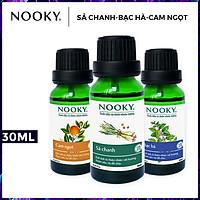 Combo 3 chai tinh dầu cao cấp NOOKY: tinh dầu Sả chanh (10ml) + tinh dầu Bạc hà (10ml) + tinh dầu Cam ngọt (10ml)