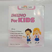Siro IMUNU For KIDS - Tăng Cường Sức Đề Kháng, Giảm Mắc Các Bệnh Về Đường Tiêu Hóa Cho Bé ( Hộp 20 ống)