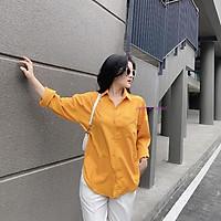 Áo sơ mi nữ dài tay vạt tôm chất đũi nhẹ, thoáng mát nhiều màu