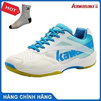 Giày cầu lông Kawasaki K171 chuyên nghiệp, đế kếp, chống lật cổ chân -  tặng kèm tất thể thao Bendu