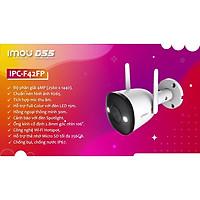 Camera wifi Imou-F42FP Có Màu Ban Đêm 4.0MP Siêu Nét  FULLCOLOR 24/7 , CHỐNG NƯỚC IP67 tích hợp đèn Spotlight (tặng kèm đầu đọc thẻ nhớ cao cấp) - Hàng nhập khẩu