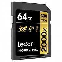Thẻ Nhớ Lexar SDXC Professional 2000x 64GB UHS-II 300MB/s - Hàng Chính Hãng