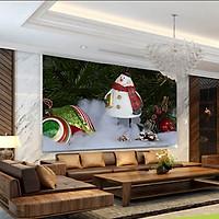 Rèm Tranh 1 Tấm Mẫu Giáng Sinh_CMAS37