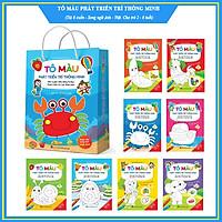 Tô màu phát triển trí thông minh - Tô màu song ngữ Anh - Việt (Túi 8 cuốn, dành cho trẻ 2 - 6 tuổi)