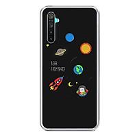 Ốp lưng điện thoại Realme 5 - Silicon dẻo - 0510 SPACE06 - Hàng Chính Hãng