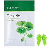 1 Hộp đắp mặt nạ rau má thảo dược ngừa mụn trắng da Beauskin Hàn quốc ( 5 gói/ hộp) và nơ