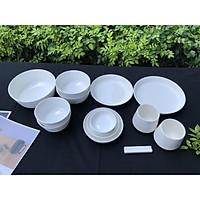 Bộ chén đĩa gốm sứ 2 người  1 bát canh(15P) Mono - Erato - Hàng nhập khẩu Hàn Quốc